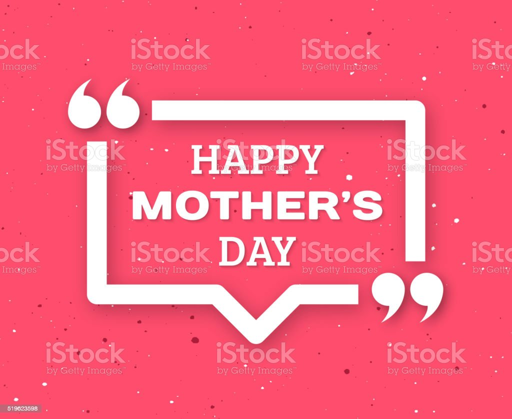 Happy Mothers Day greeting card vector art illustration