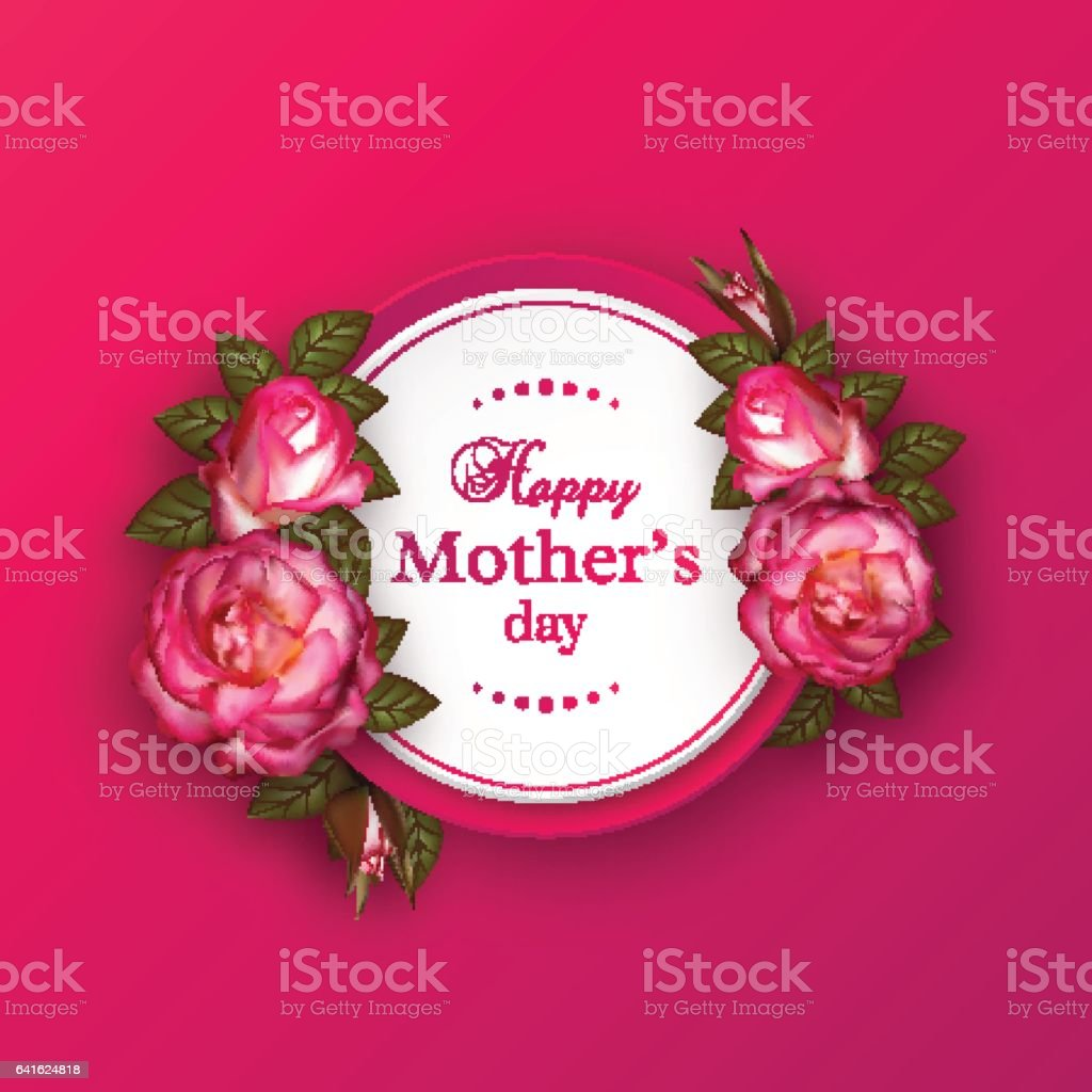Happy Mothers Day Greeting Card Stock Vector Art More Images Of