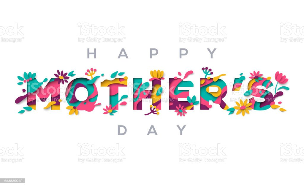 Tarjeta de felicitación madres feliz día - ilustración de arte vectorial
