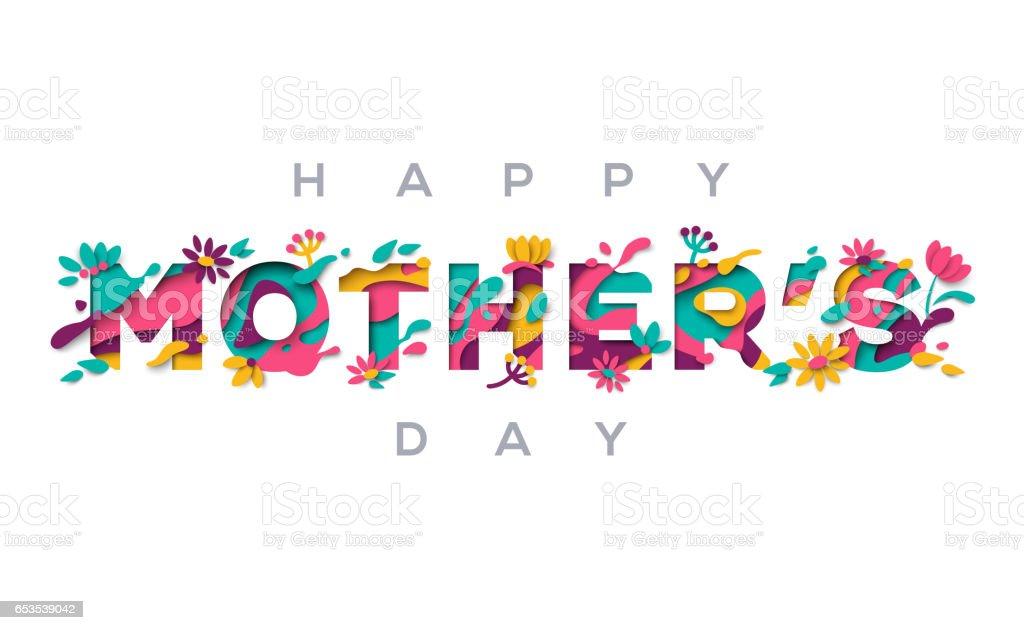 Glückliche Mütter Tag Grußkarte – Vektorgrafik
