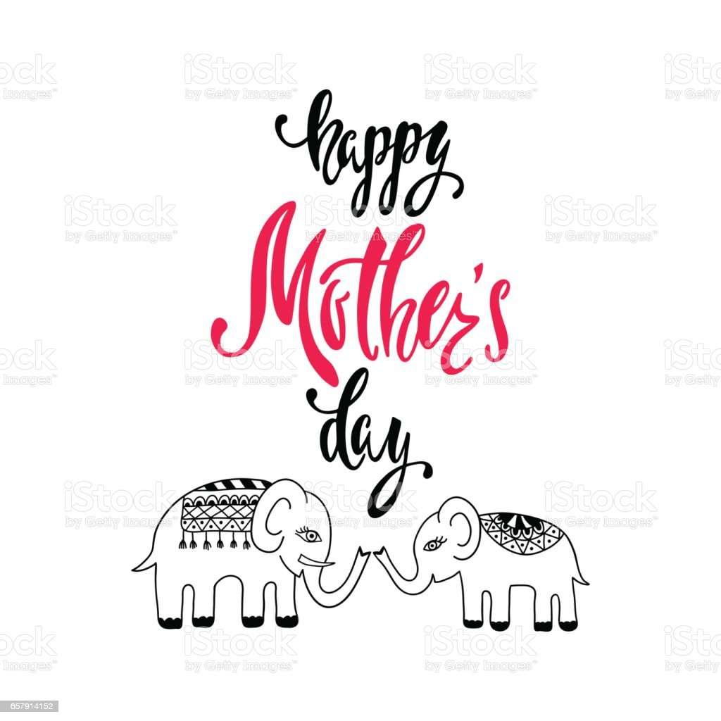 Happy Mother's Day greeting card. vector art illustration