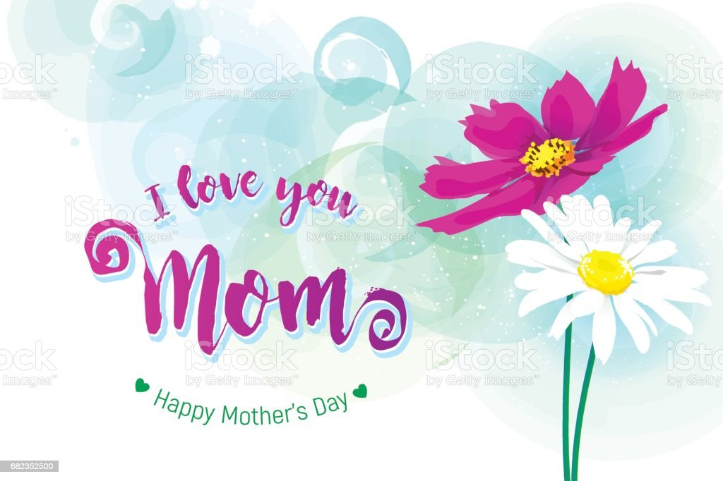 Happy Mothers Day Greeting Card. happy mothers day greeting card - immagini vettoriali stock e altre immagini di amore royalty-free