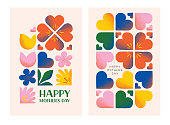 istock Happy mothers day greeting cards 1306520356