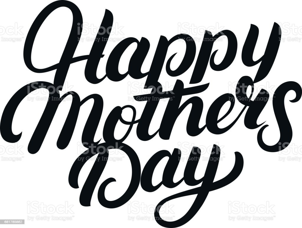 Happy mothers day hand written lettering stock vector art & more