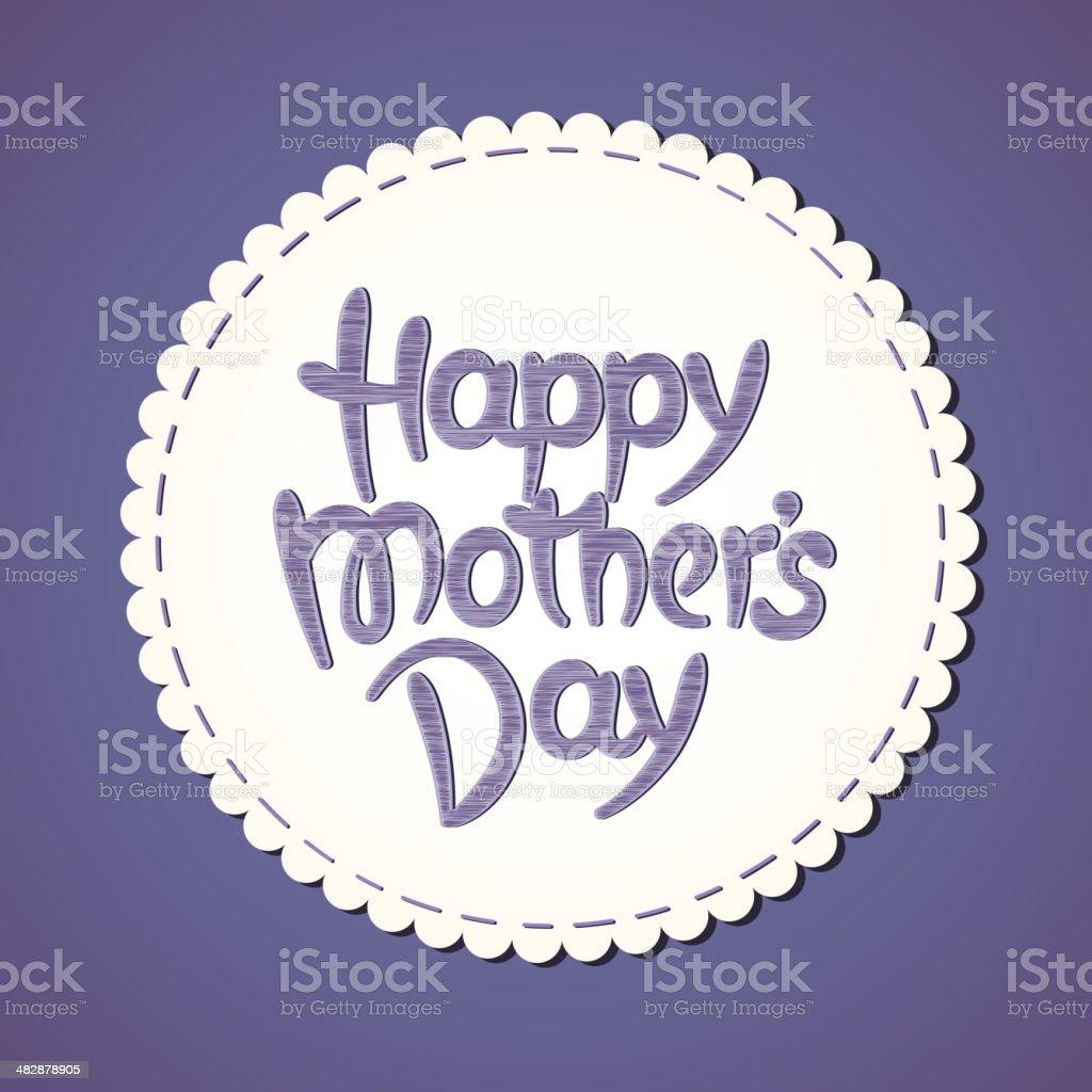 Feliz Dia Da Mãe Desenhadas à Mão Lettering Download Vetor E