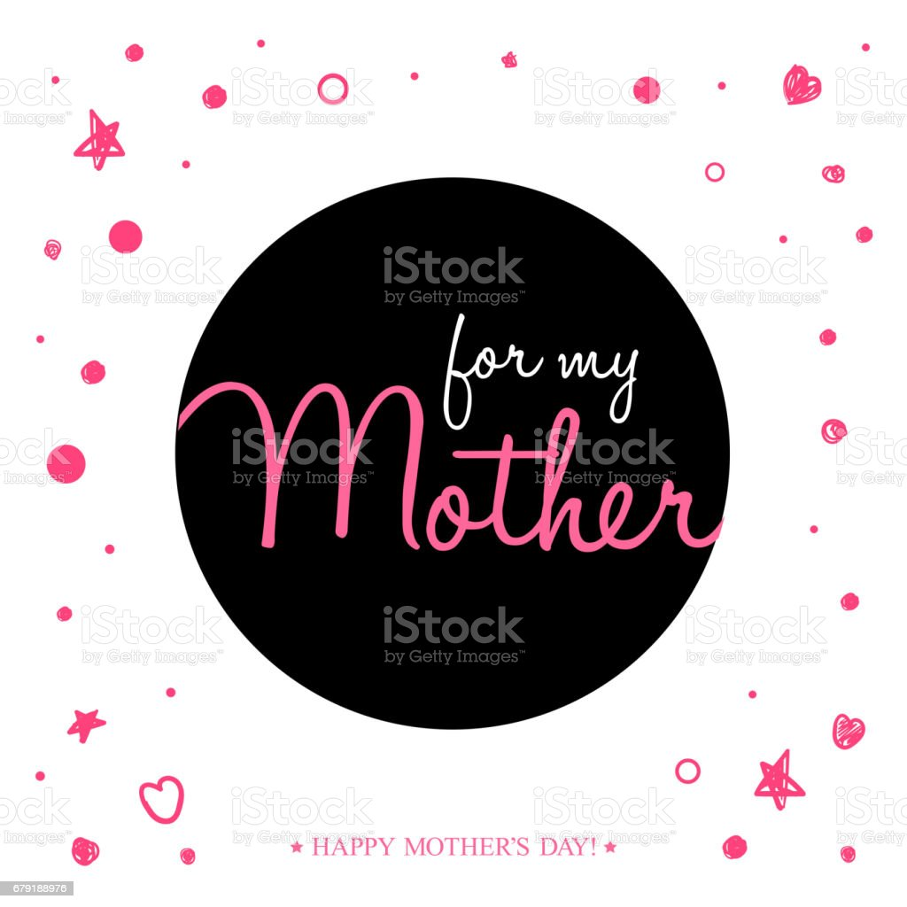 Happy Mother's Day Handwritten greeting card, background or poster for typographic design. happy mothers day handwritten greeting card background or poster for typographic design – cliparts vectoriels et plus d'images de abstrait libre de droits