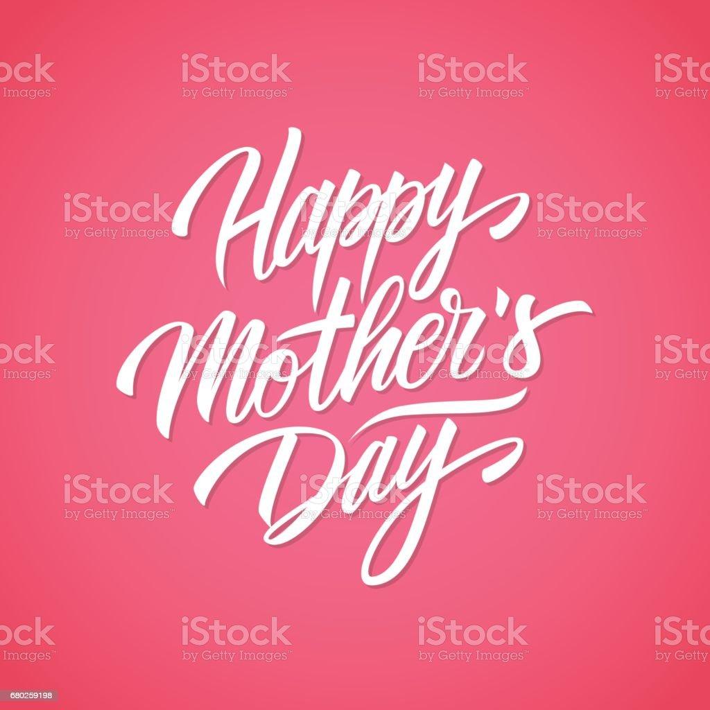 Happy Mother Es Day Handgeschriebene Beschriftungsdesignkarte ...