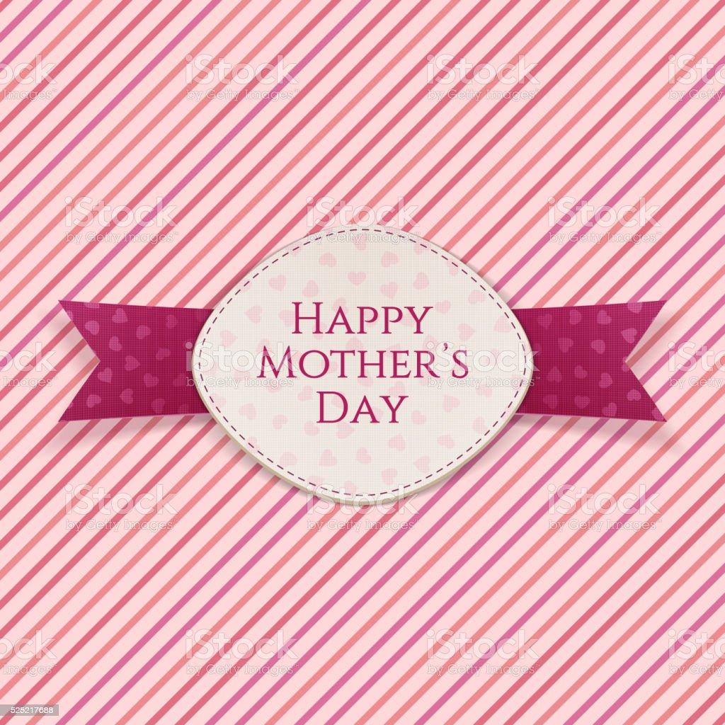 Glückliche Mütter Tag Vorlage Urlaub Karte Vektor Illustration ...
