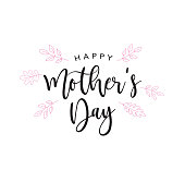 Happy Mother's Day Holiday Handwriting