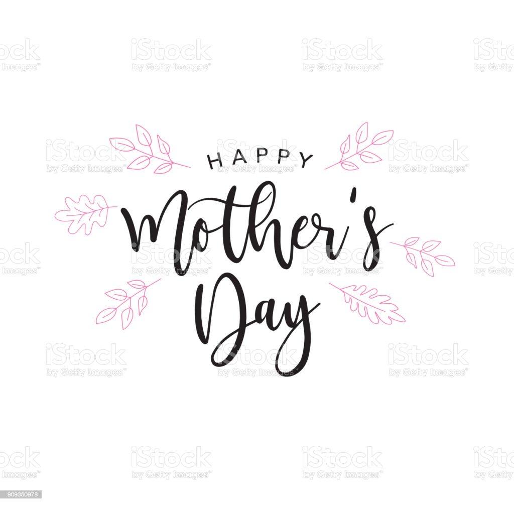 Letra de Holiday de feliz día de la madre - ilustración de arte vectorial
