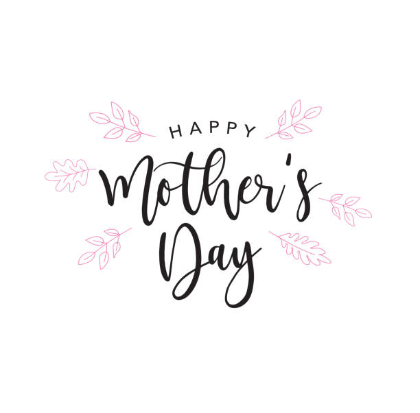 happy mother's day holiday handwriting - mothers day stock illustrations