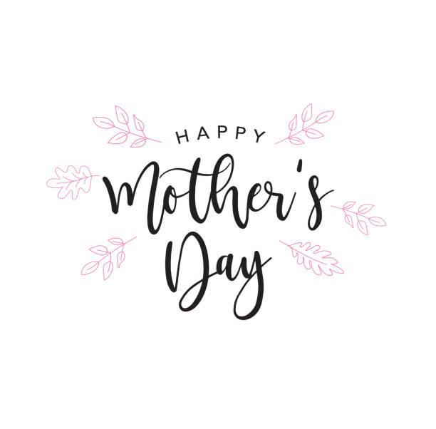 ilustraciones, imágenes clip art, dibujos animados e iconos de stock de letra de holiday de feliz día de la madre - día de la madre