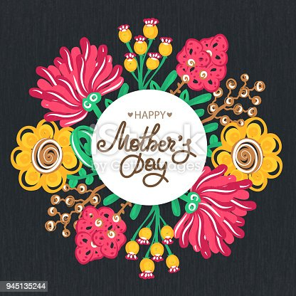 Istock Dia De Las Madres Felices Fiesta De Mama Rotulacion Con