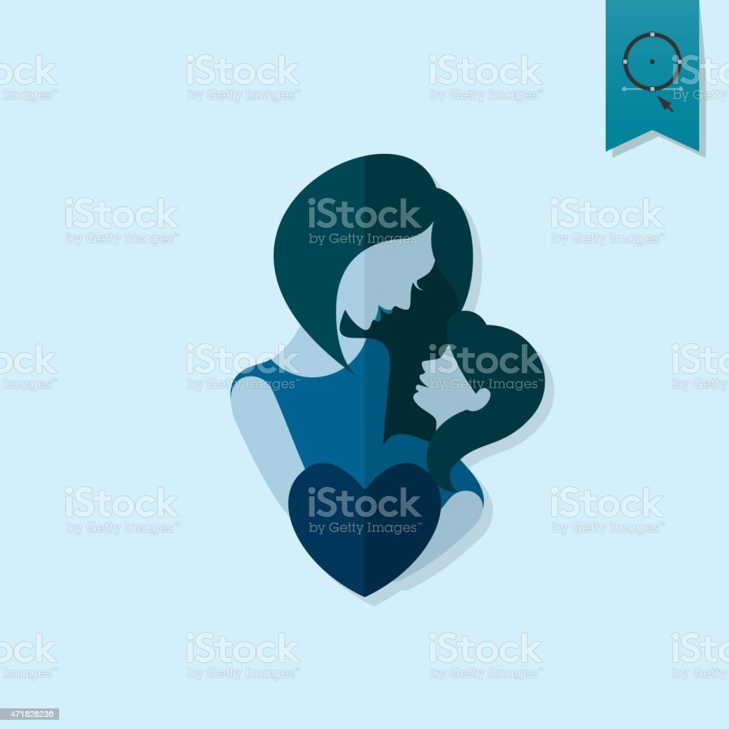 Happy Mothers Day Icon vector art illustration