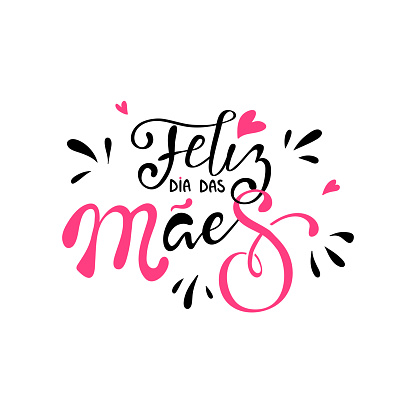 Happy mothers day in brazilian portuguese greeting card