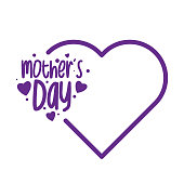 istock Happy Mothers Day lettering. Calligraphy text. stock illustration 1222375168