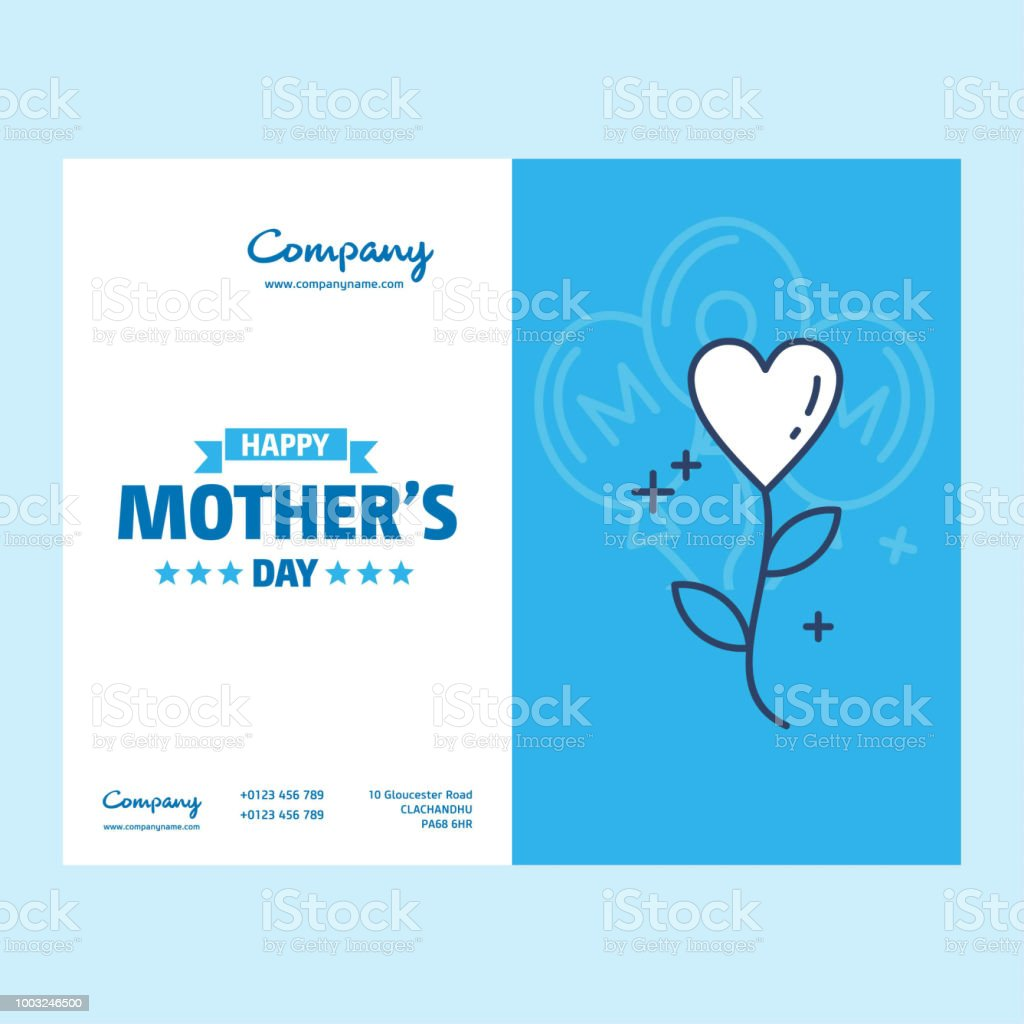 Happy Mothers Day lettering. Handmade calligraphy vector illustration. Mother's day card with heart vector art illustration