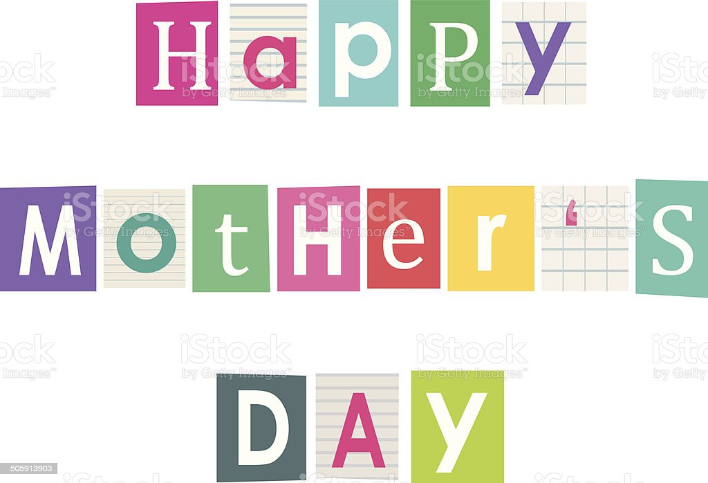 Happy mothers day letters cut out of books and magazines stock letters cut out of books and magazines royalty free happy spiritdancerdesigns Images
