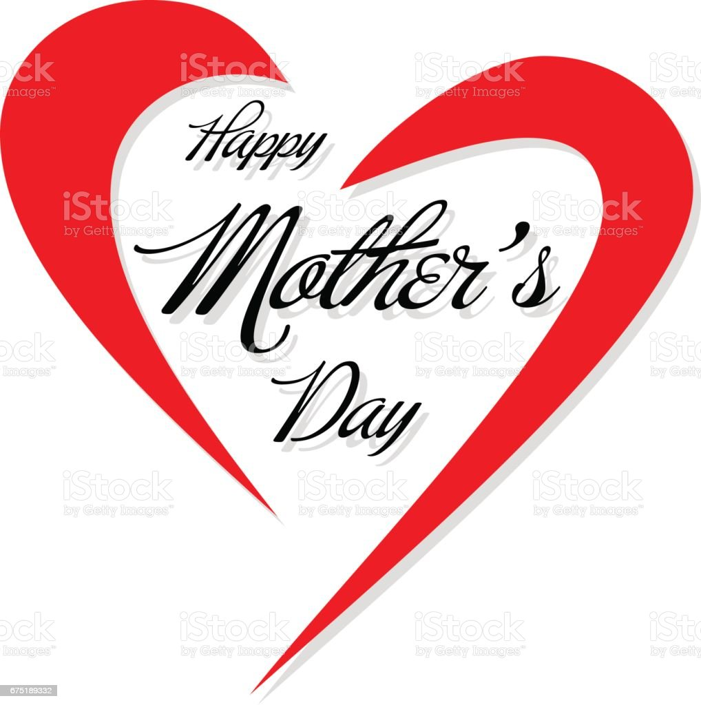 happy mothers day message with hearts stock vector art more images
