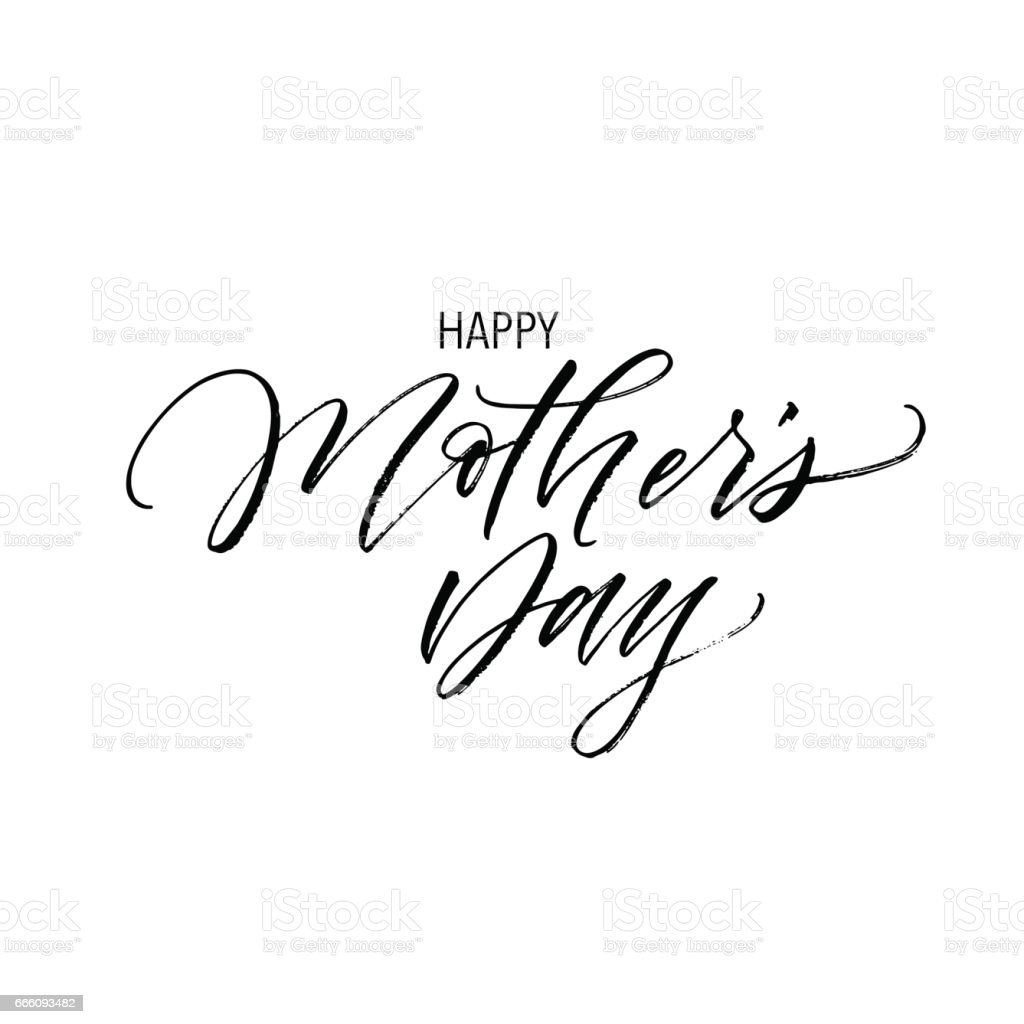 Happy mother's day postcard. vector art illustration
