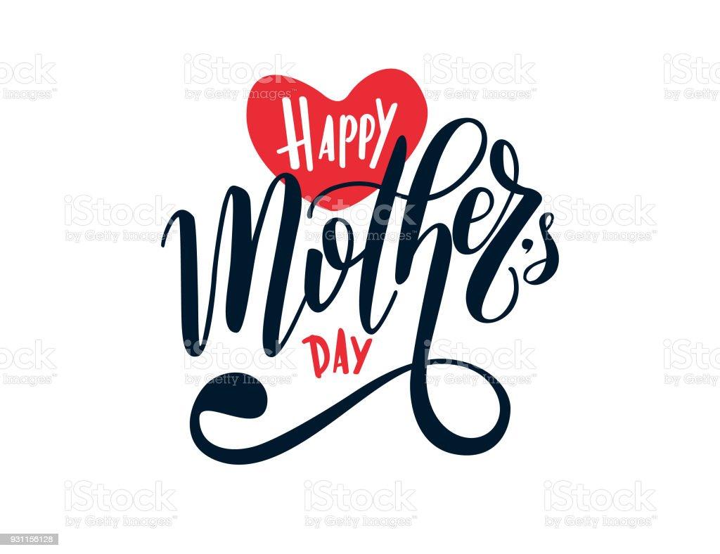 Glückliche Mutter Tag Zeichen – Vektorgrafik