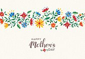 istock Happy mothers day spring flower pattern background 520288554