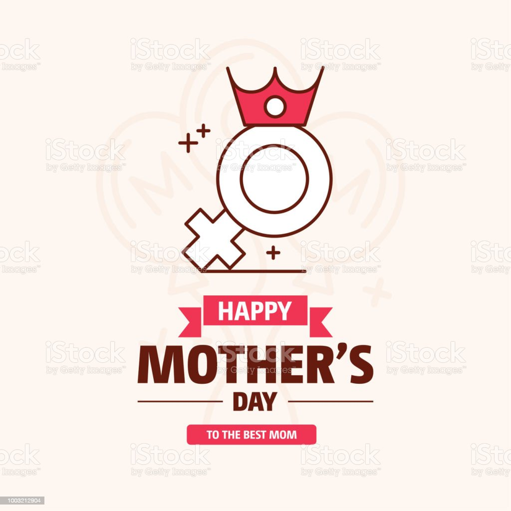 happy mother's day sweet background,greeting card, Flat design. can be add text. vector art illustration