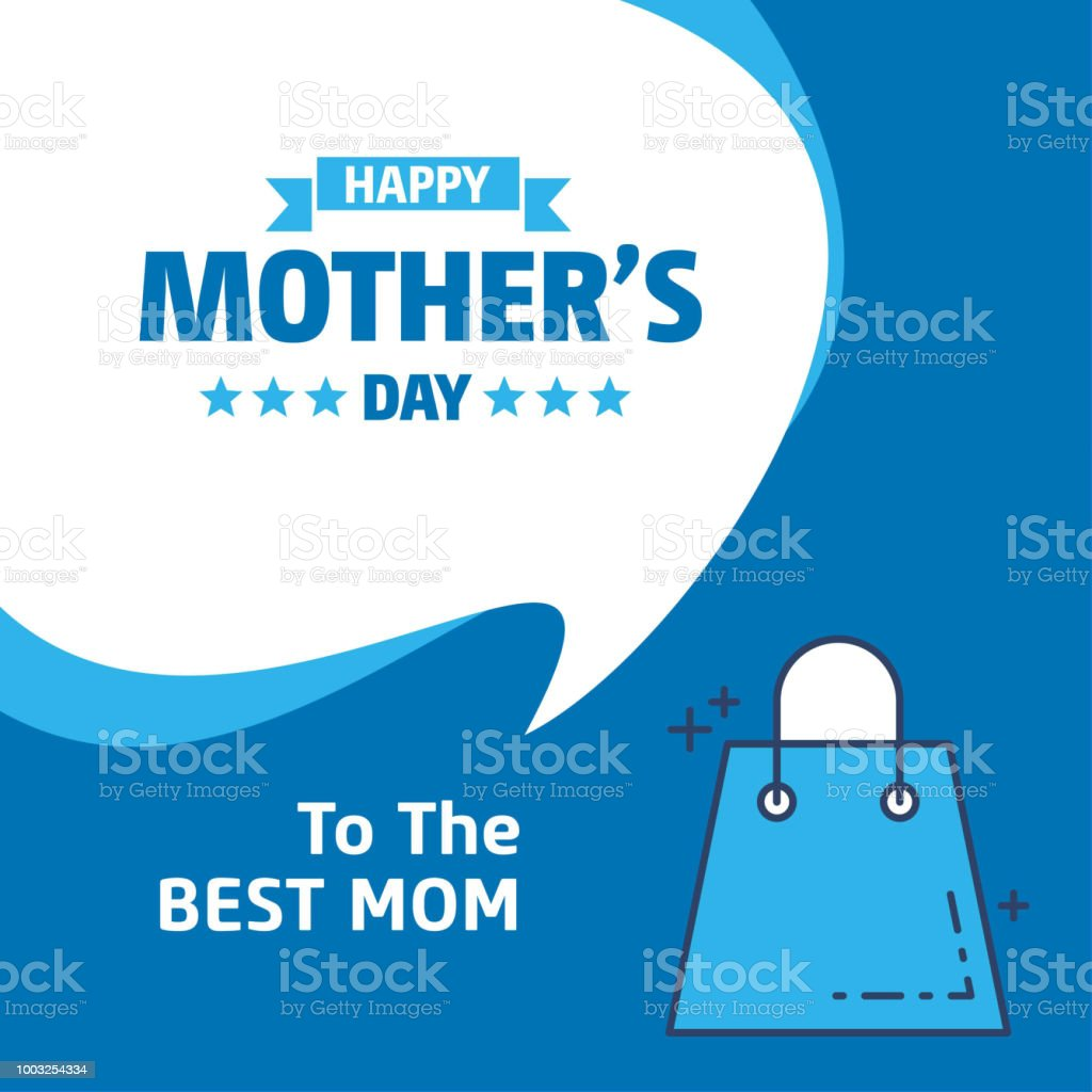 Happy Mother's Day text as celebration badge, tag, icon. Text card invitation, template. Festivity background. Lettering typography poster. Vector illustration EPS 10. Banner on textured background. vector art illustration