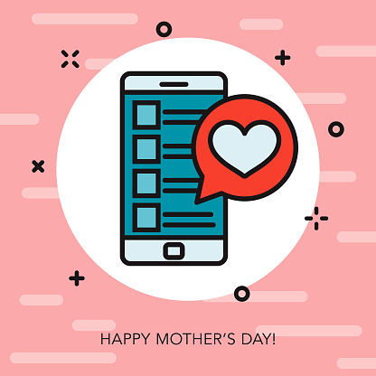 Happy Mother's Day Thin Line Icon
