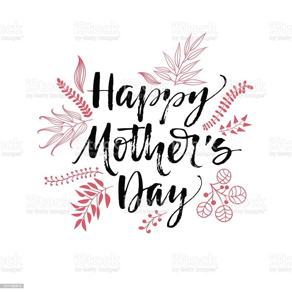 Glückliche Mütter Tag typografische Hintergrund auf. – Vektorgrafik