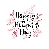 Happy Mother's Day typographical background.