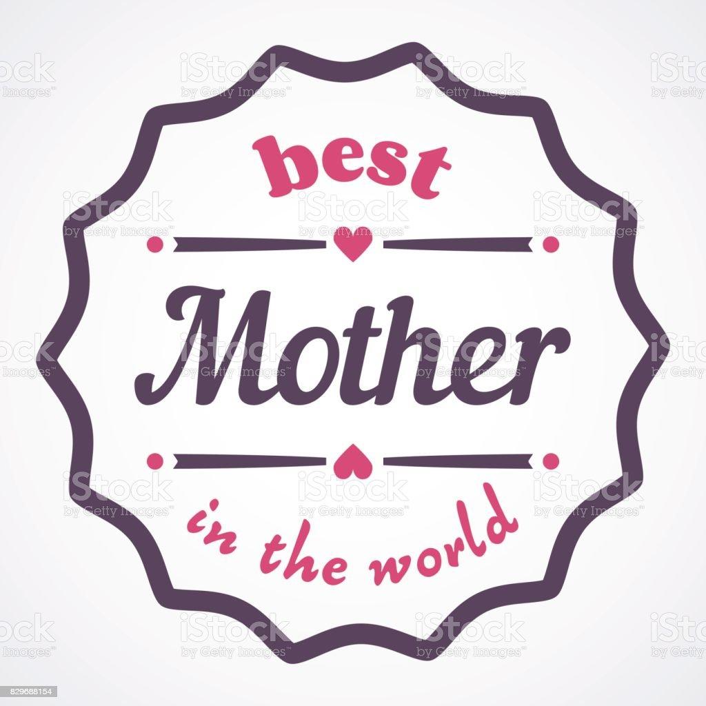 Glücklich Muttertag Typografische Vektorillustration Die Beste