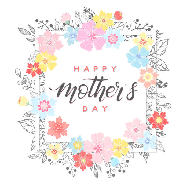 happy mothers day typography - mothers day stock illustrations