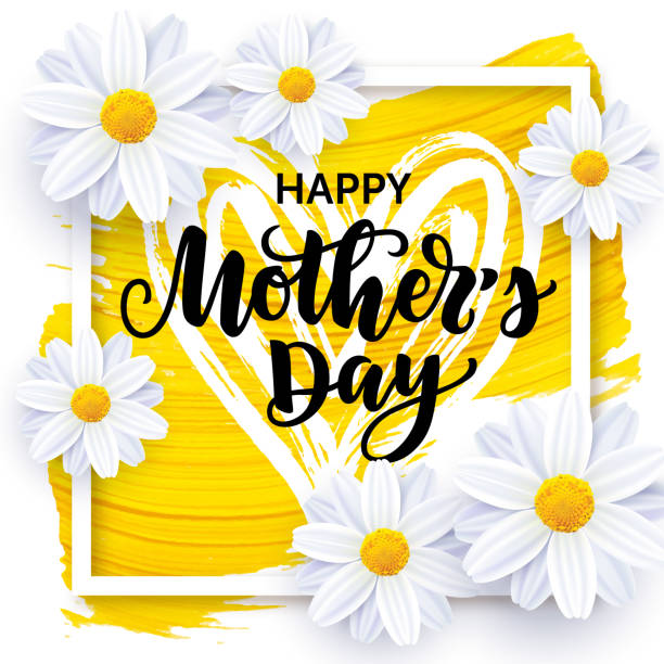 happy mother's day vector card design - mothers day stock illustrations