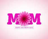 Happy mother's day vector greetings card design