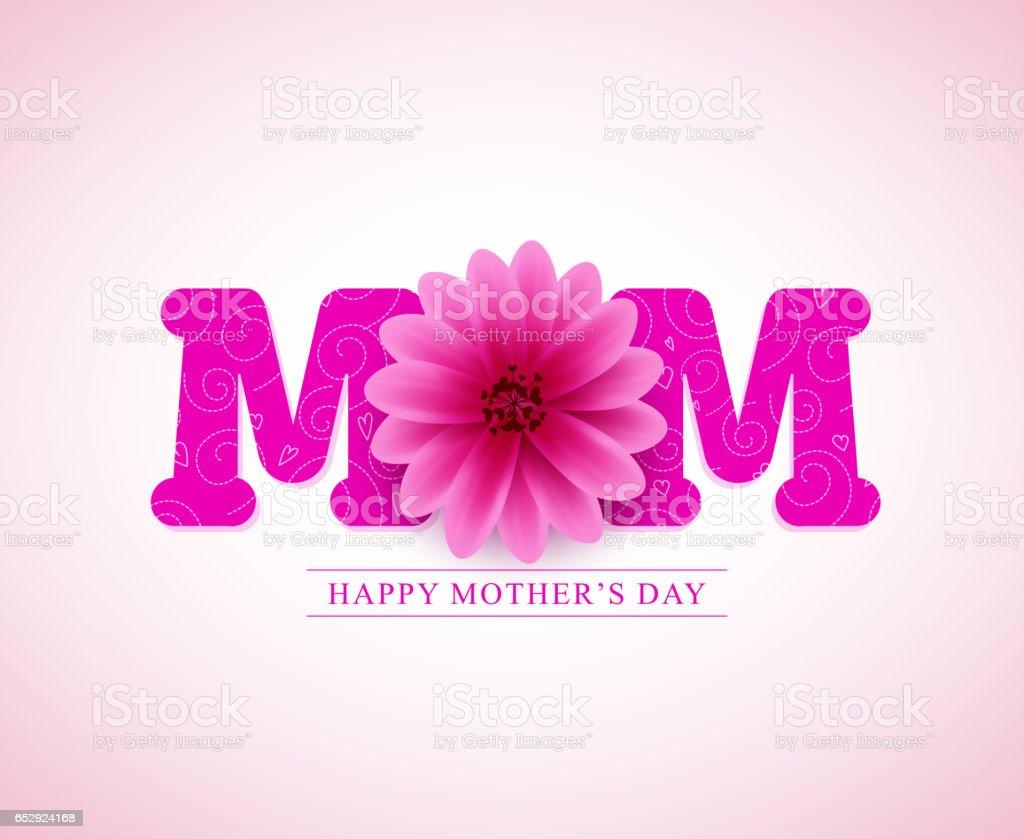 Diseño de tarjetas de saludo de vector de la madre feliz dia - ilustración de arte vectorial