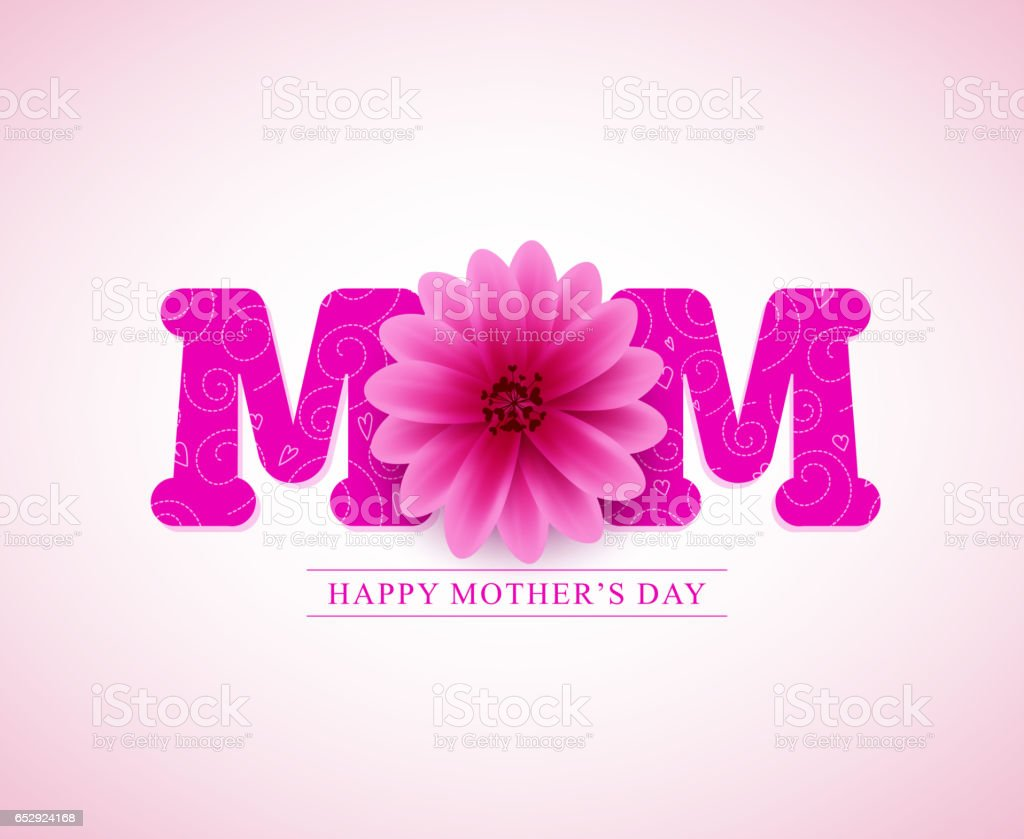 Glückliche Mutter Grußkarte Tag Vektor design – Vektorgrafik