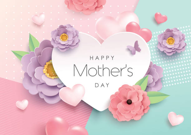 happy mother's day - cheerful stock illustrations
