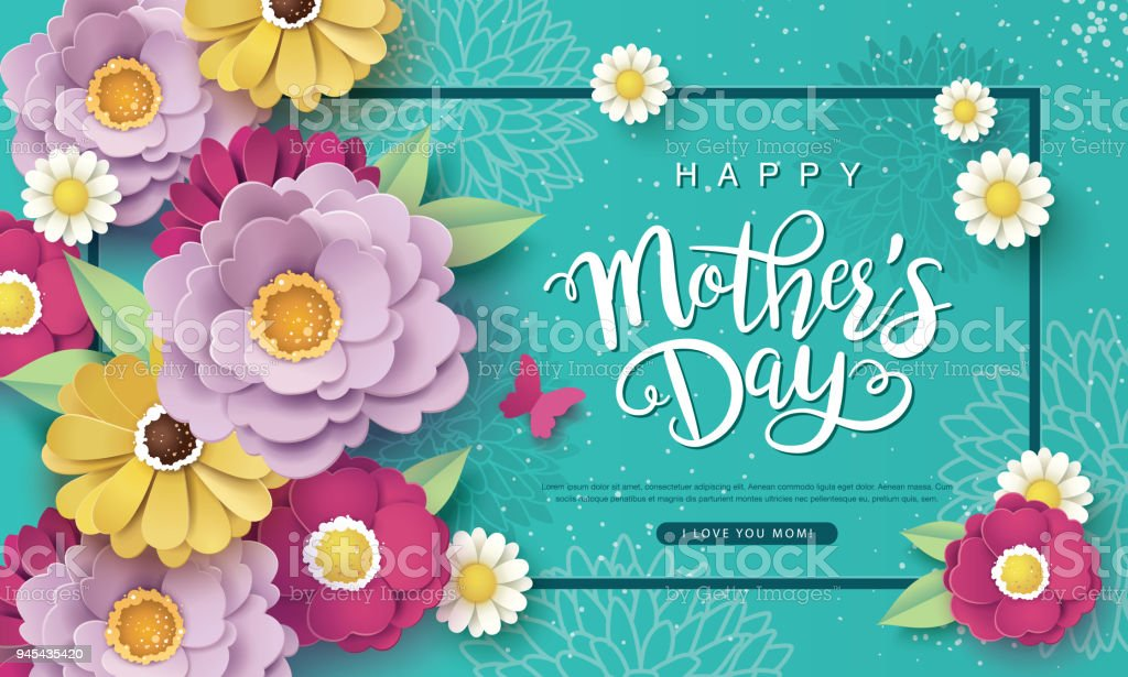 Happy Mother's Day vector art illustration