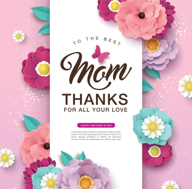 happy mother's day - thank you background stock illustrations