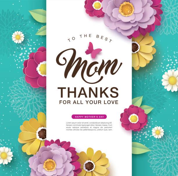 Feliz Dia das Mães - ilustração de arte em vetor