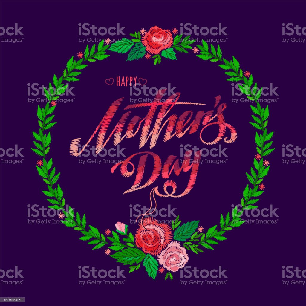 Happy Mothers Day Stock Illustration - Download Image Now