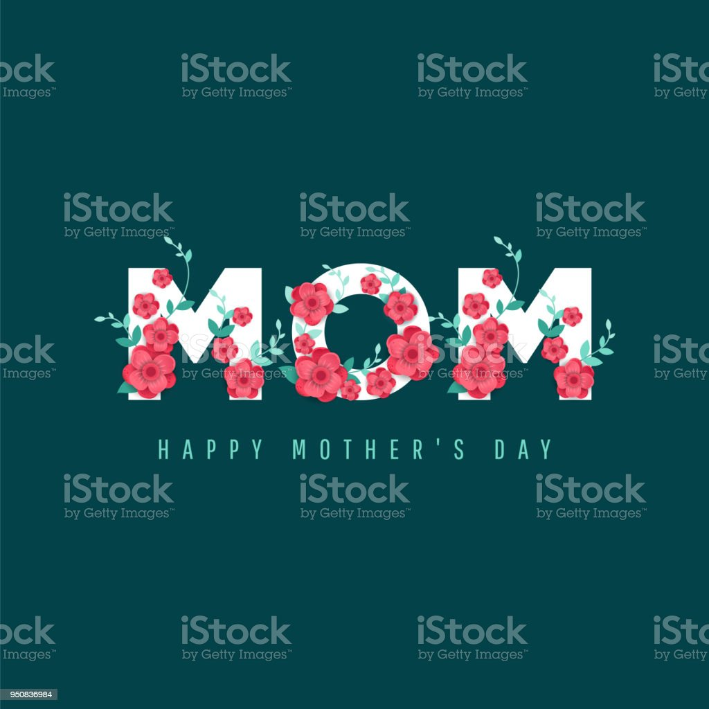 Happy Mother's Day. vector art illustration