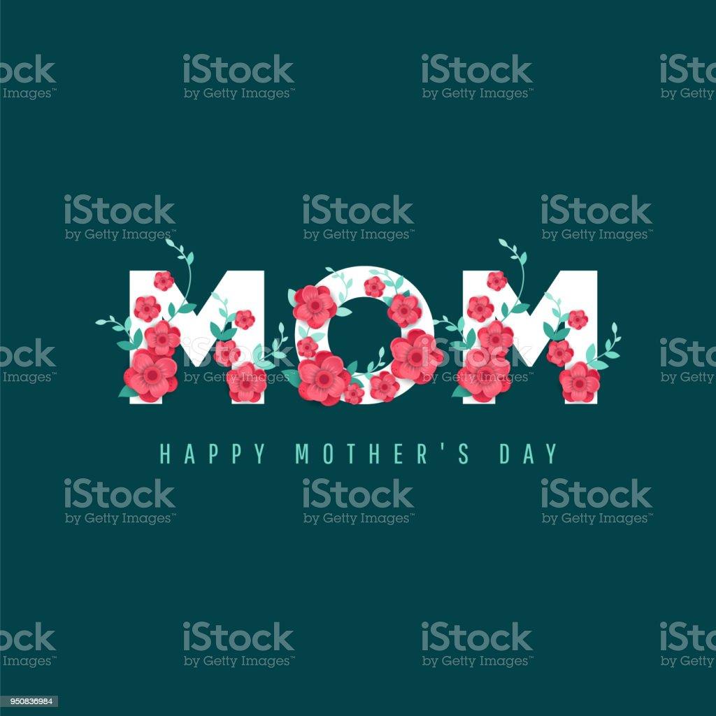 Feliz día de la madre. - ilustración de arte vectorial