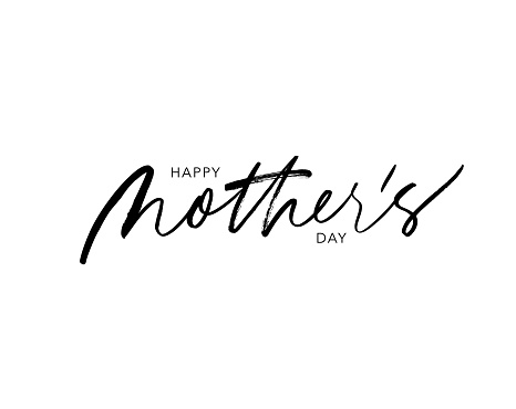 Happy Mother's day vector lettering. Holiday calligraphy greeting card. Quote ink pen lettering.