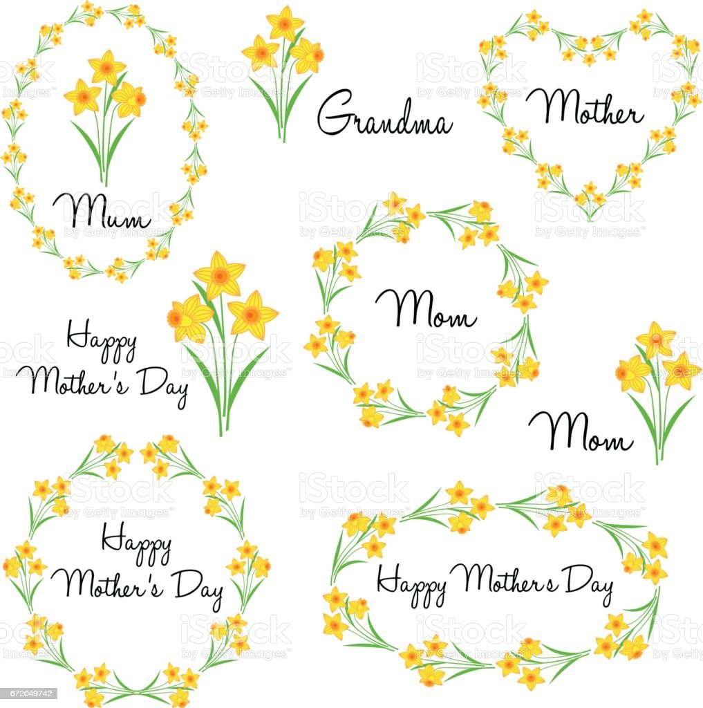 Happy Mothers Day With Daffodils Sport Set - Competition ...