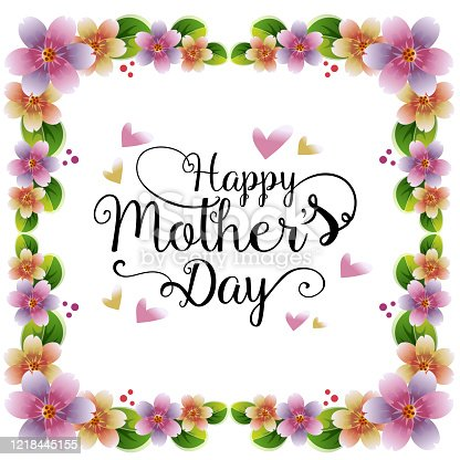 istock happy mother's day with sakura decoration frame 1218445155