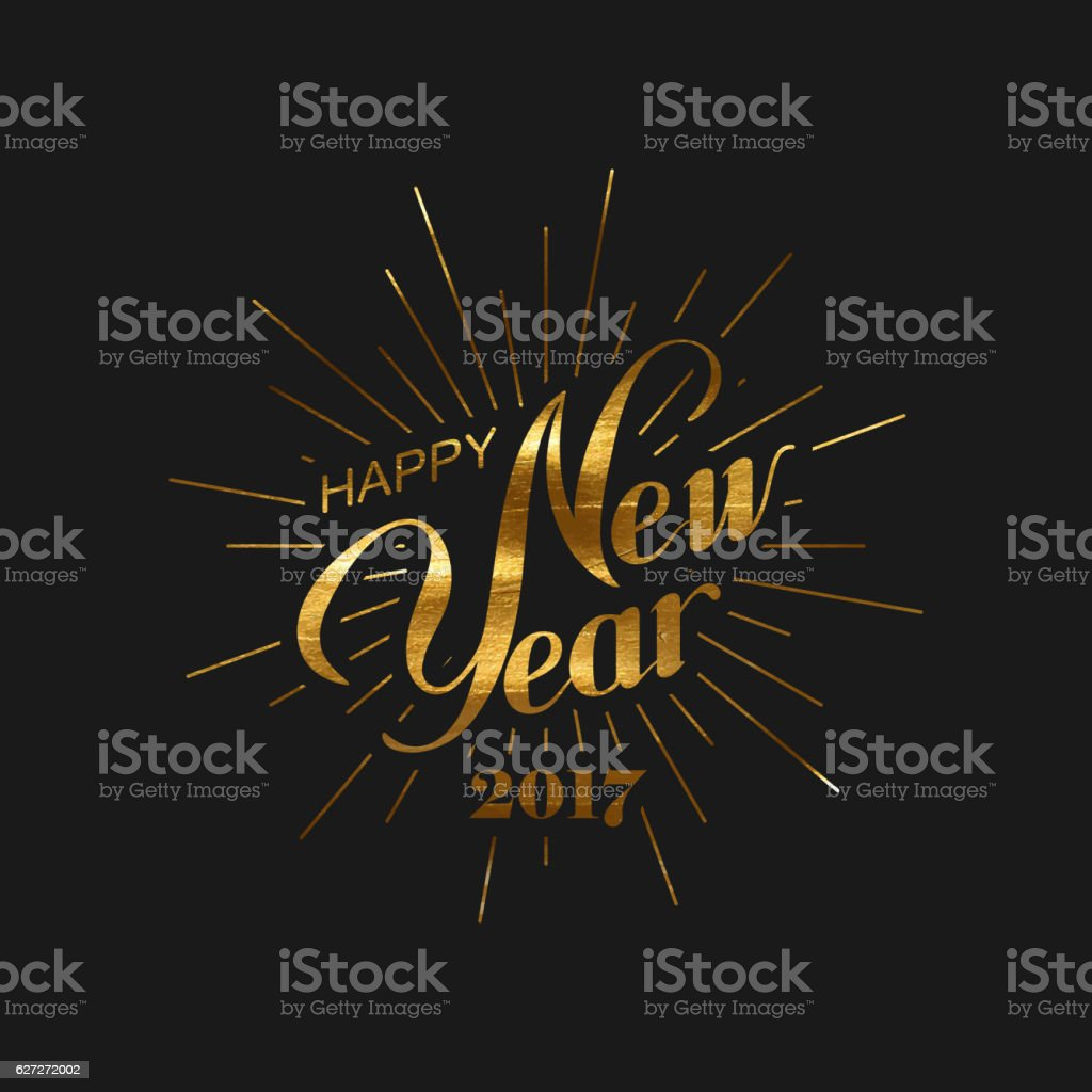 Happy New 2017 Year. vector art illustration
