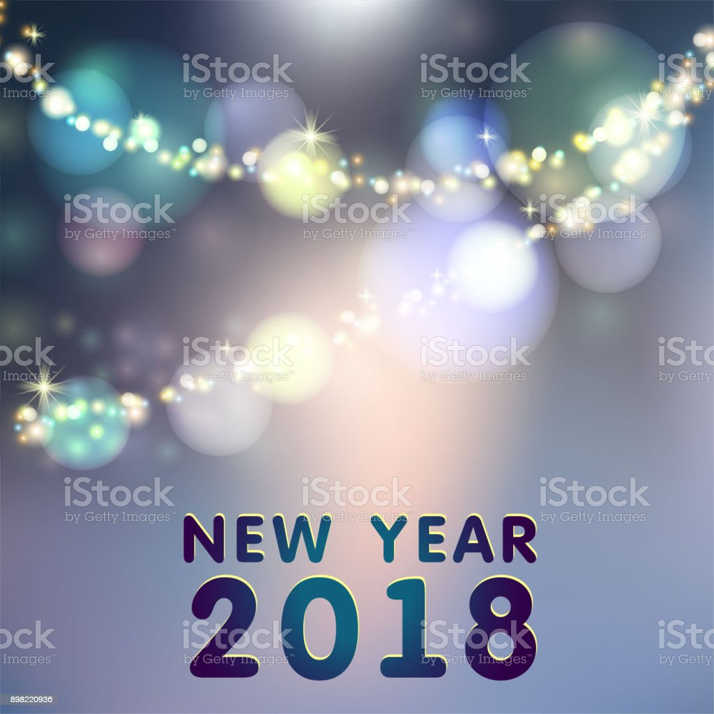 Frohes Neues Jahr 2018 Seasons Greetings Schneeflocken Ans ...