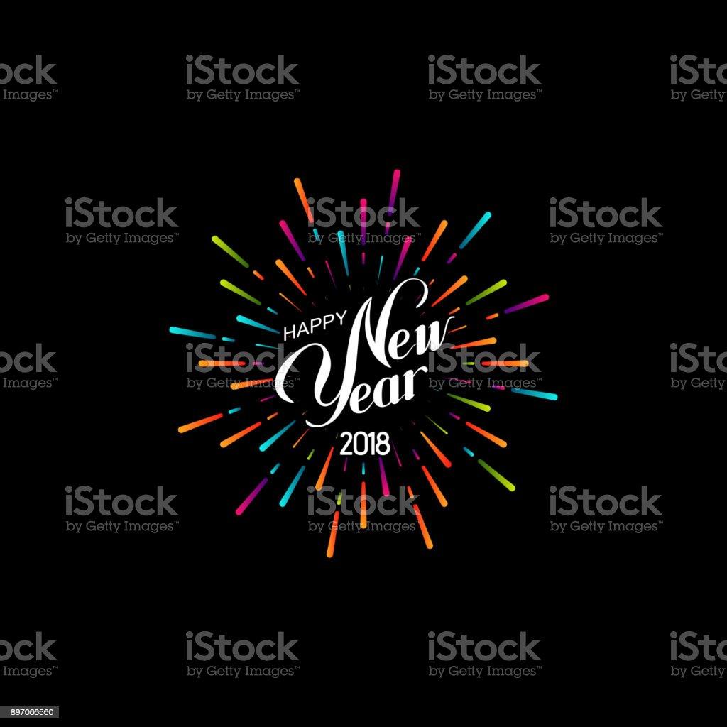 Happy New 2018 Year. - Royalty-free 2018 arte vetorial